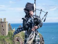 The Highland Bagpipes.