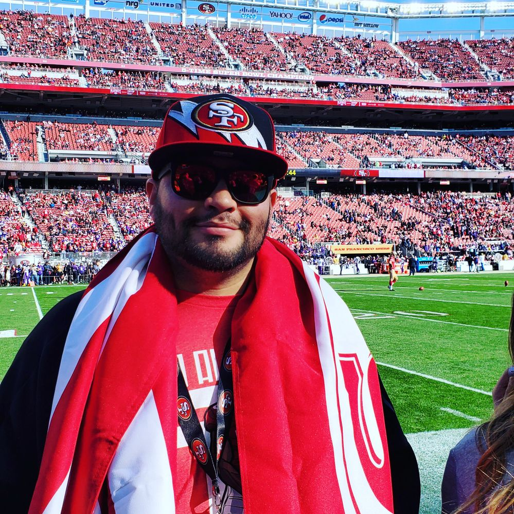 Me at Levi's Stadium, home of the San Francisco 49ers.
