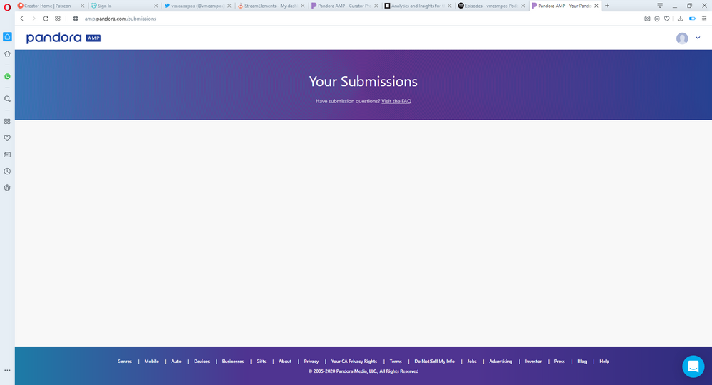 Shows nothing for submissions