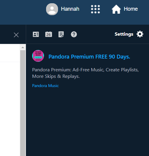 Also showed up in side banner in my yahoo mail.